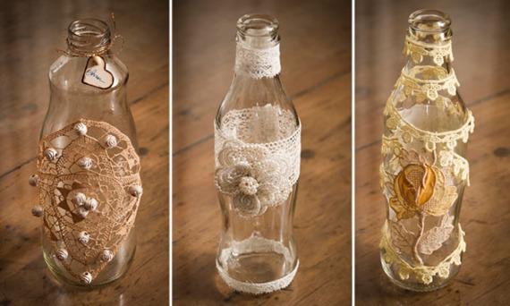 decoracao casamento garrafas de vidro:Faça você mesma: Castiçais e vasos de garrafas para seu casamento